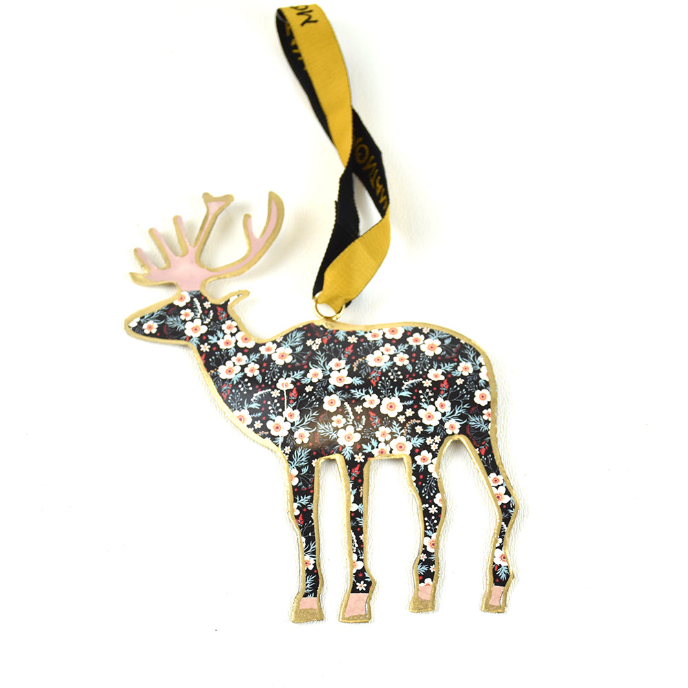 Elk Assorted Pattern Metal Christmas Ornaments by Art Studio Company at Montana Gift Corral