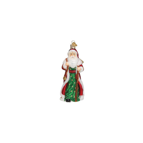 Father Christmas with Bells Christmas Ornament by Old World Christmas