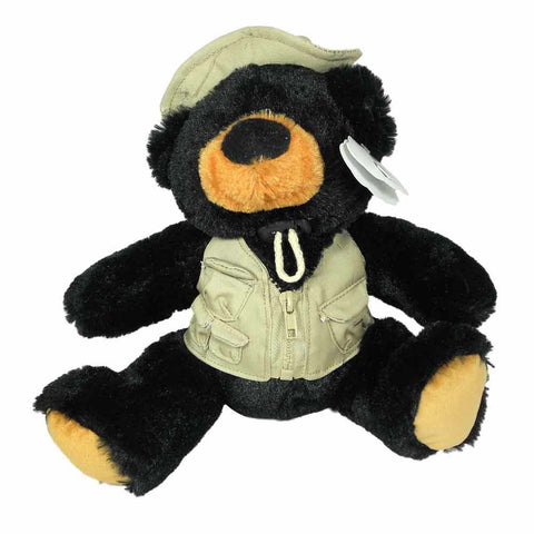 Fishing Bear with Vest & Hat