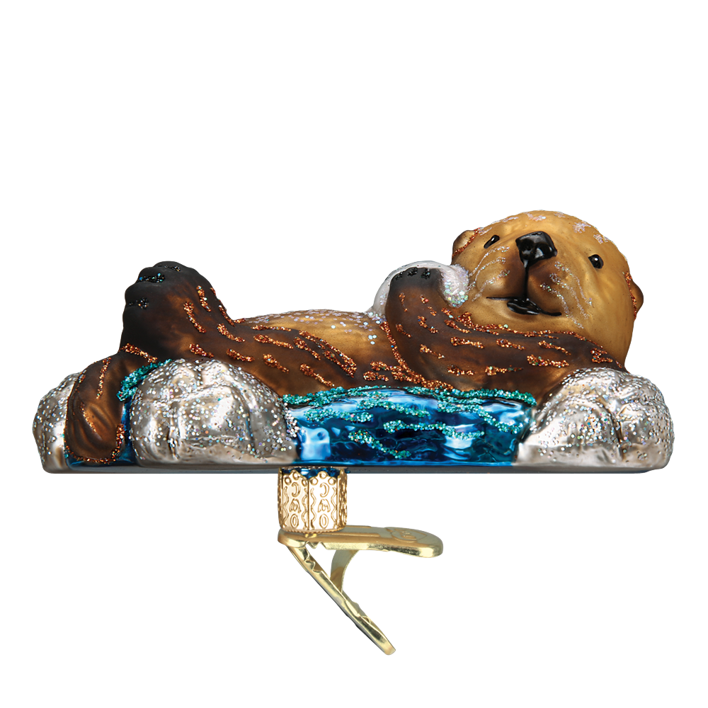 Floating Sea Otter Clip-On Ornament by Old World Christmas