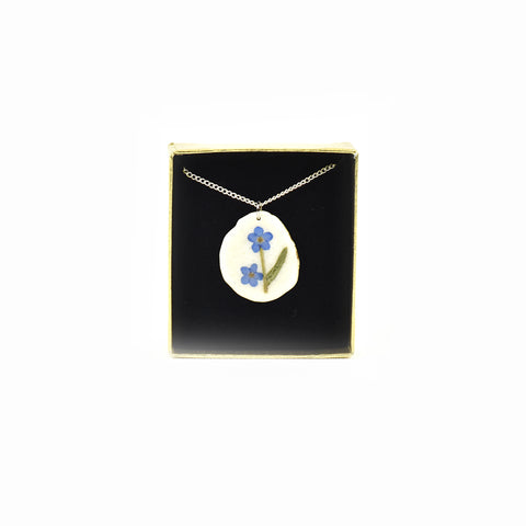 Forget-Me-Not Wildflower Pendant Necklaces by High Country Design