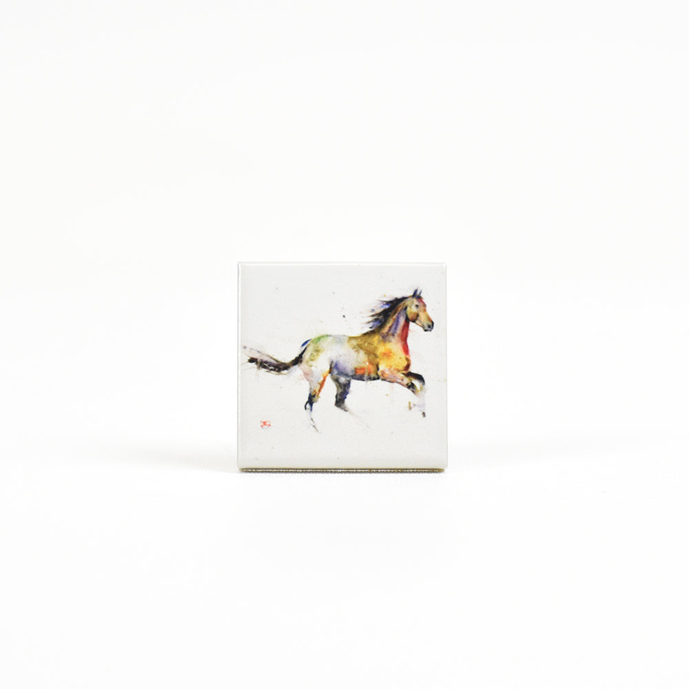 Free Spirit Horse Ranch Animal Ceramic Watercolor Magnets by Dean Crouser at Montana Gift Corral