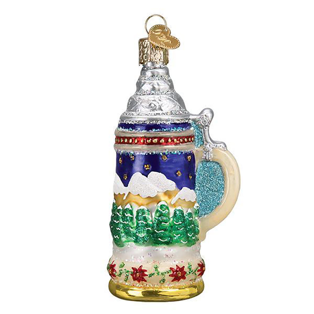 German Beer Stein Glass Ornament from Old World Christmas
