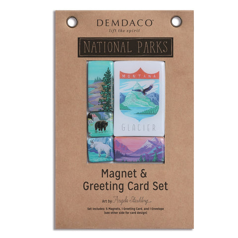 We all have that one friend or family member that is an avid outdoorsman. They have been to almost every National Park, but now they're back and stuck at home and longing for the outdoors. The Glacier National Park Magnet and Card Set by Demdaco brings a flow of fond memories of hiking, sightseeing, camping, and more!