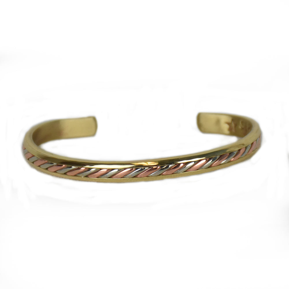 Gold Mayan Mixed Metal Bracelet by Sergio Lub Jewelry