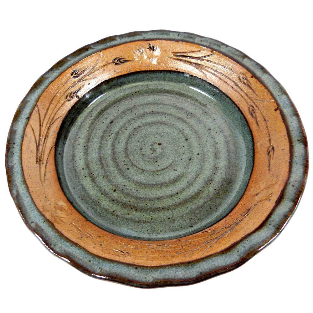 "Green 10"" Fluted Pie Plate"