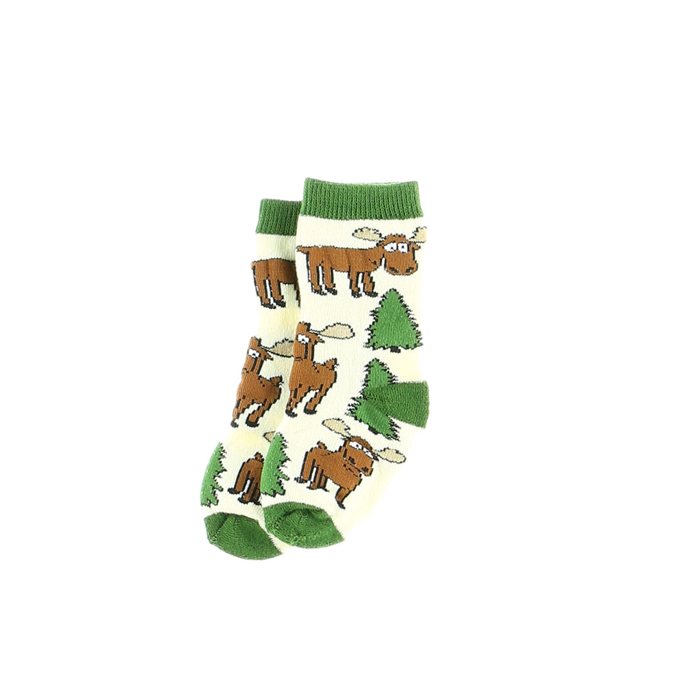 Green Moose Hug Infant Socks by Lazy One