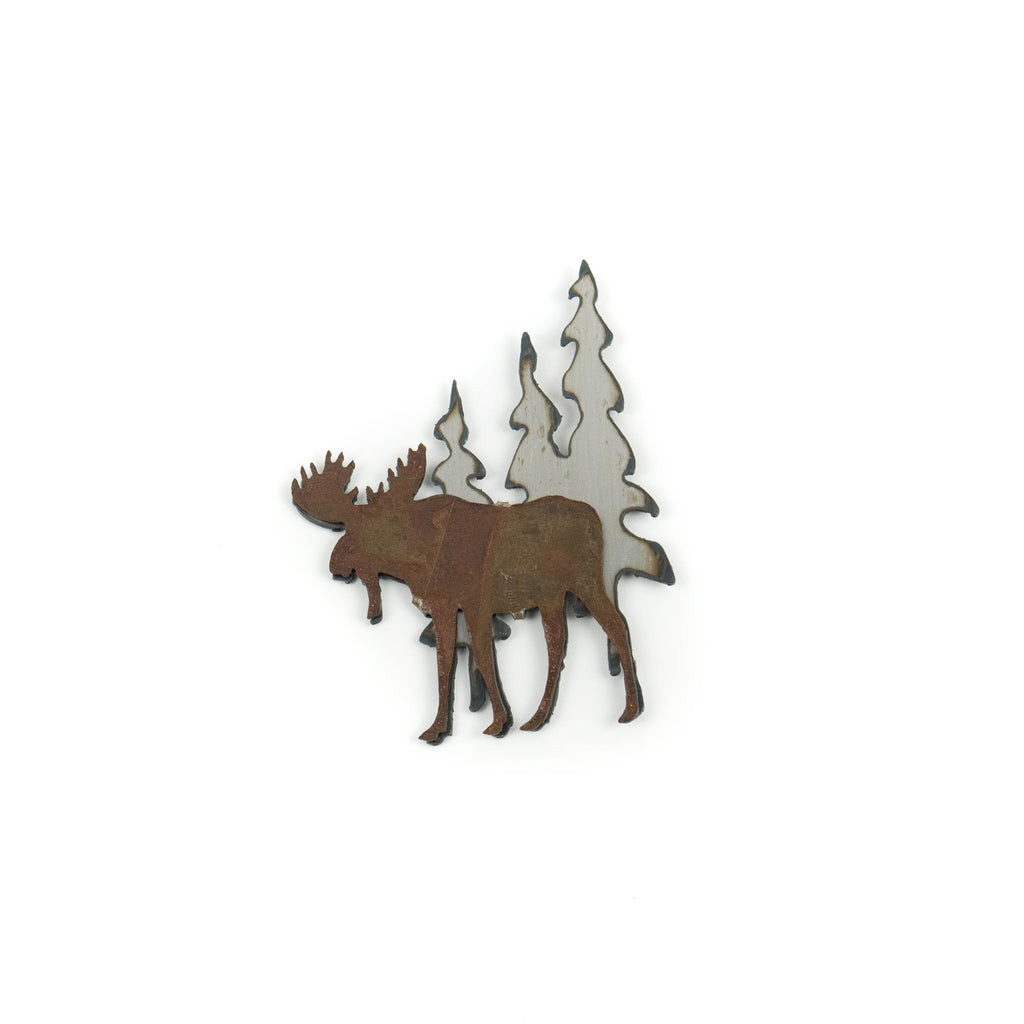 Patina Moose Beneath the Trees Magnet by H&K Studios