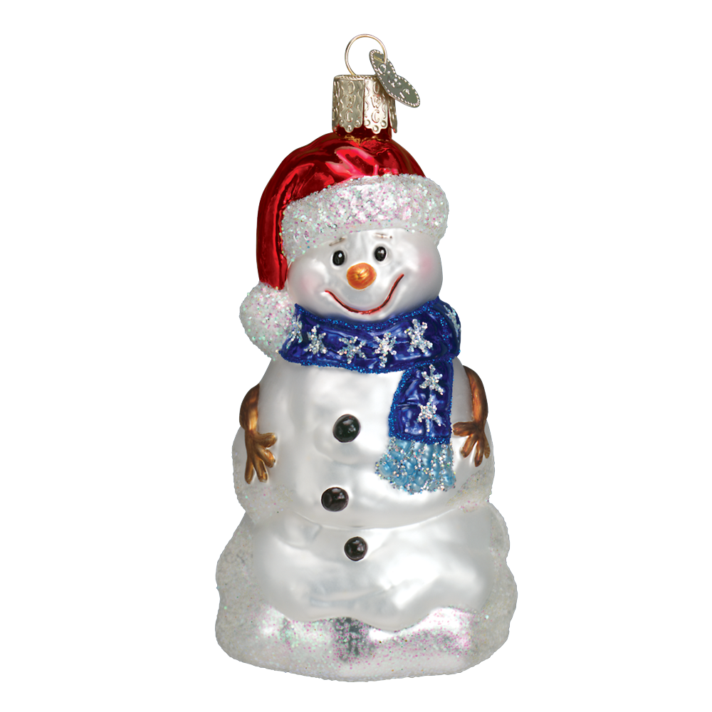 Happy Snowman Ornament by Old World Christmas