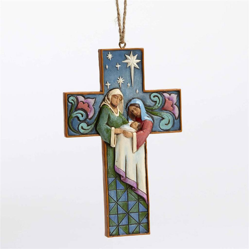 Heartwood Creek Holy Family Cross Ornament by Jim Shore