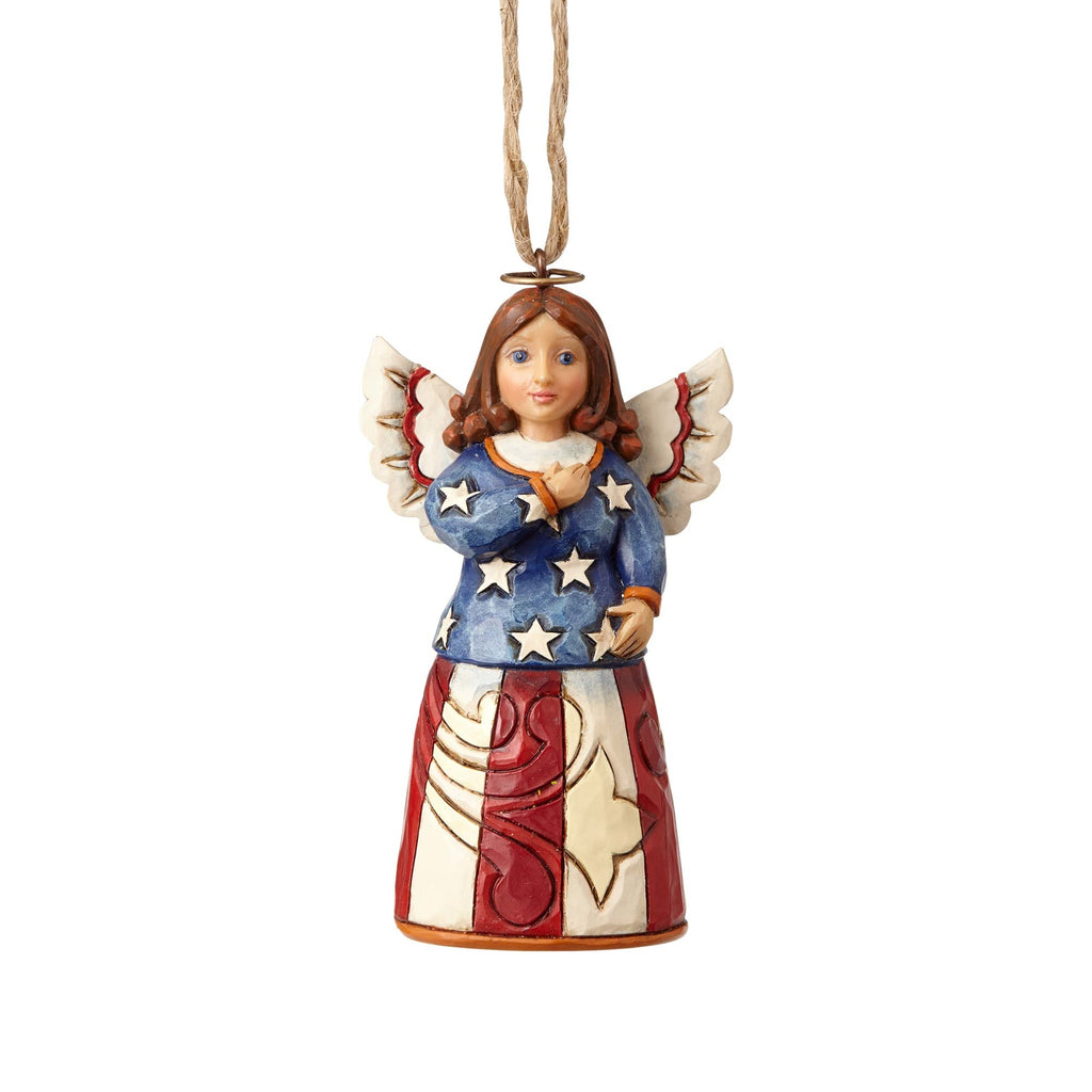 Heartwood Creek Mini Patriotic Angel Ornament by Jim Shore