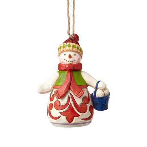 Heartwood Creek Mini Snowman with Bucket by Jim Shore