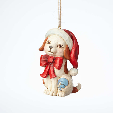 Heartwood Creek Puppy with Bow Ornament by Jim Shore