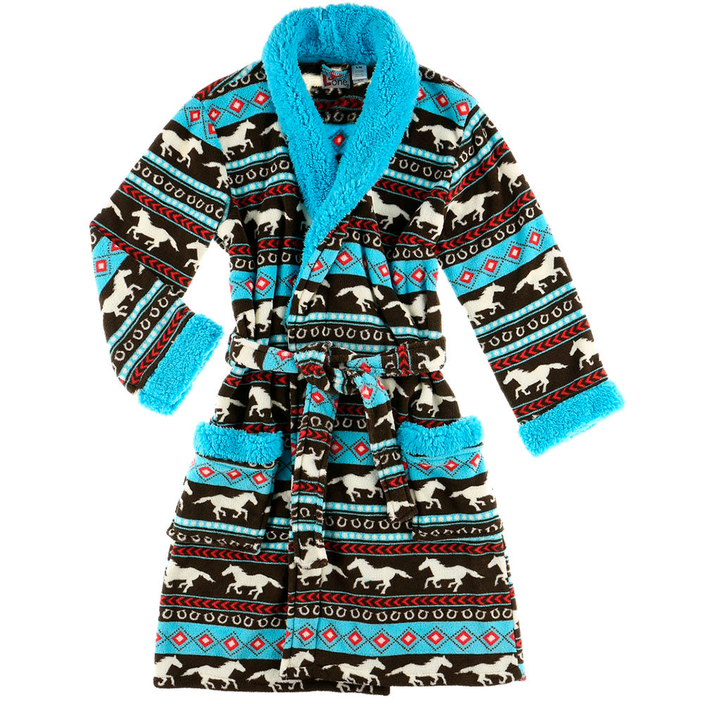 Horse Fair Isle Bathrobe by Lazy One
