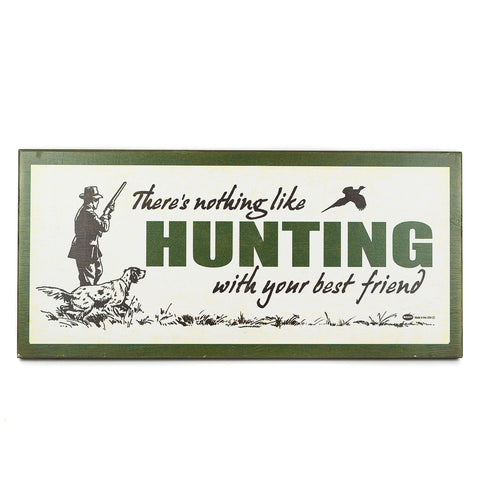 Hunt with your Best Friend Matchbook Sign by Meissenburg Designs