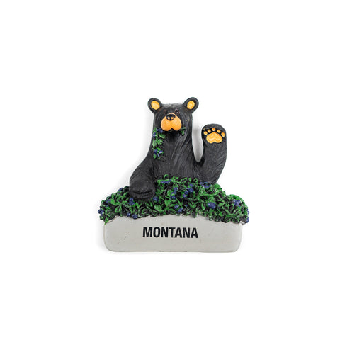 Bearfoots I'm Your Huckleberry Montana Magnet by Jeff Fleming at Big Sky Carvers