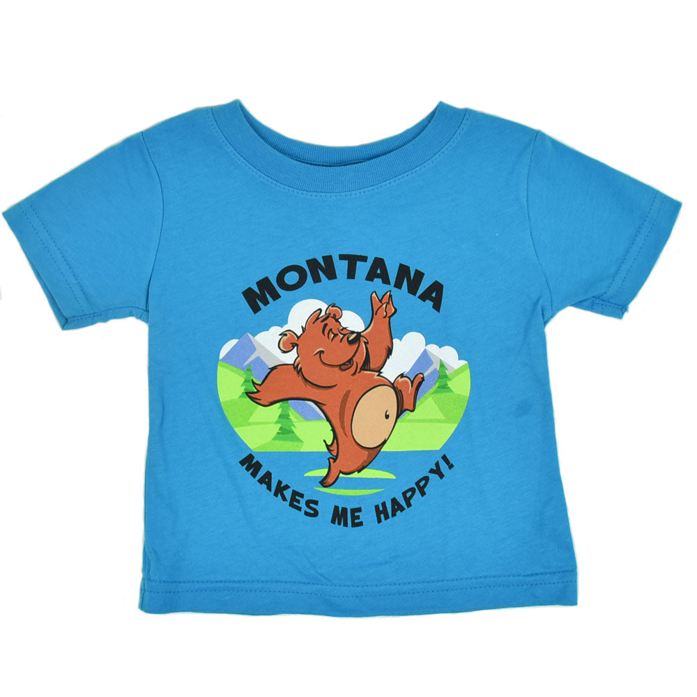 Turquoise Skippy Bear Infant T-Shirt by Prairie Mountain