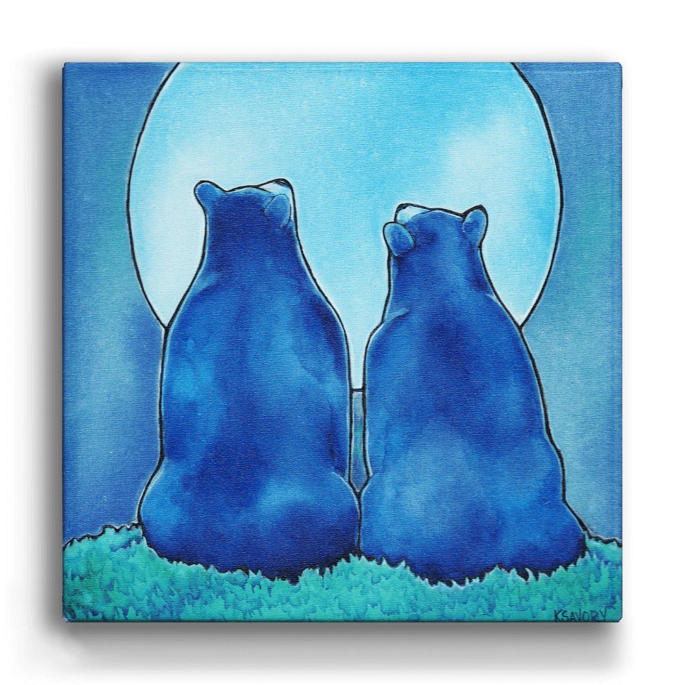 Karen Savory Once in a Blue Moon Box Wall Art by Meissenburg Designs at Montana Gift Corral
