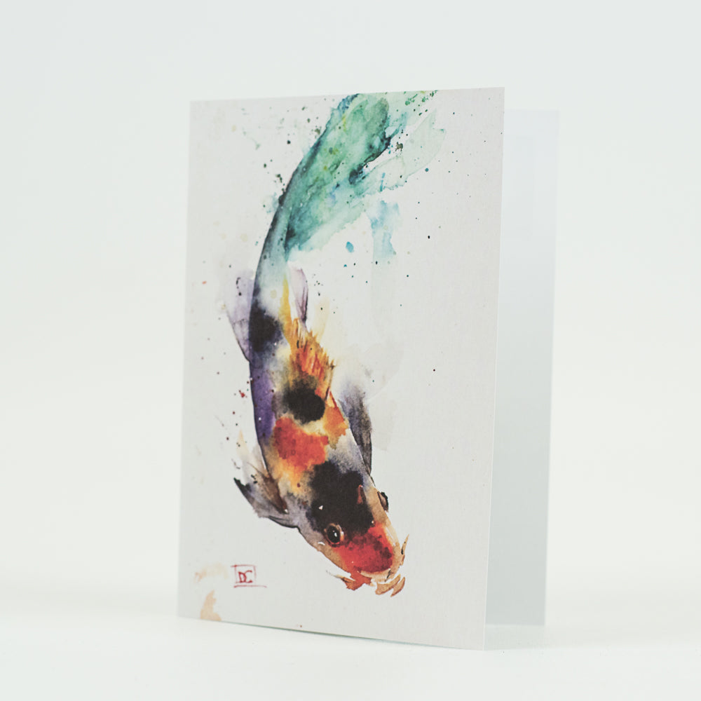 Koi Aquatic Watercolor Greeting Cards by Dean Crouser