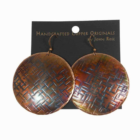 Large Textured Disc Earrings