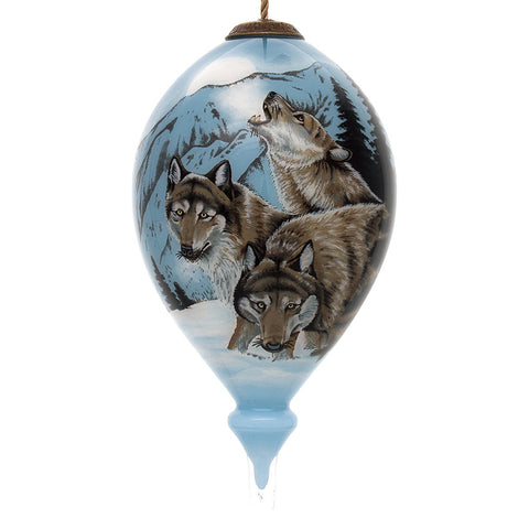 For the many of us who have yet to experience the beauty of wolves in person, the Lee Kromschroeder Moon Dancer Wolves Christmas Ornament by Inner Beauty is about as close to the real thing as you can get!
