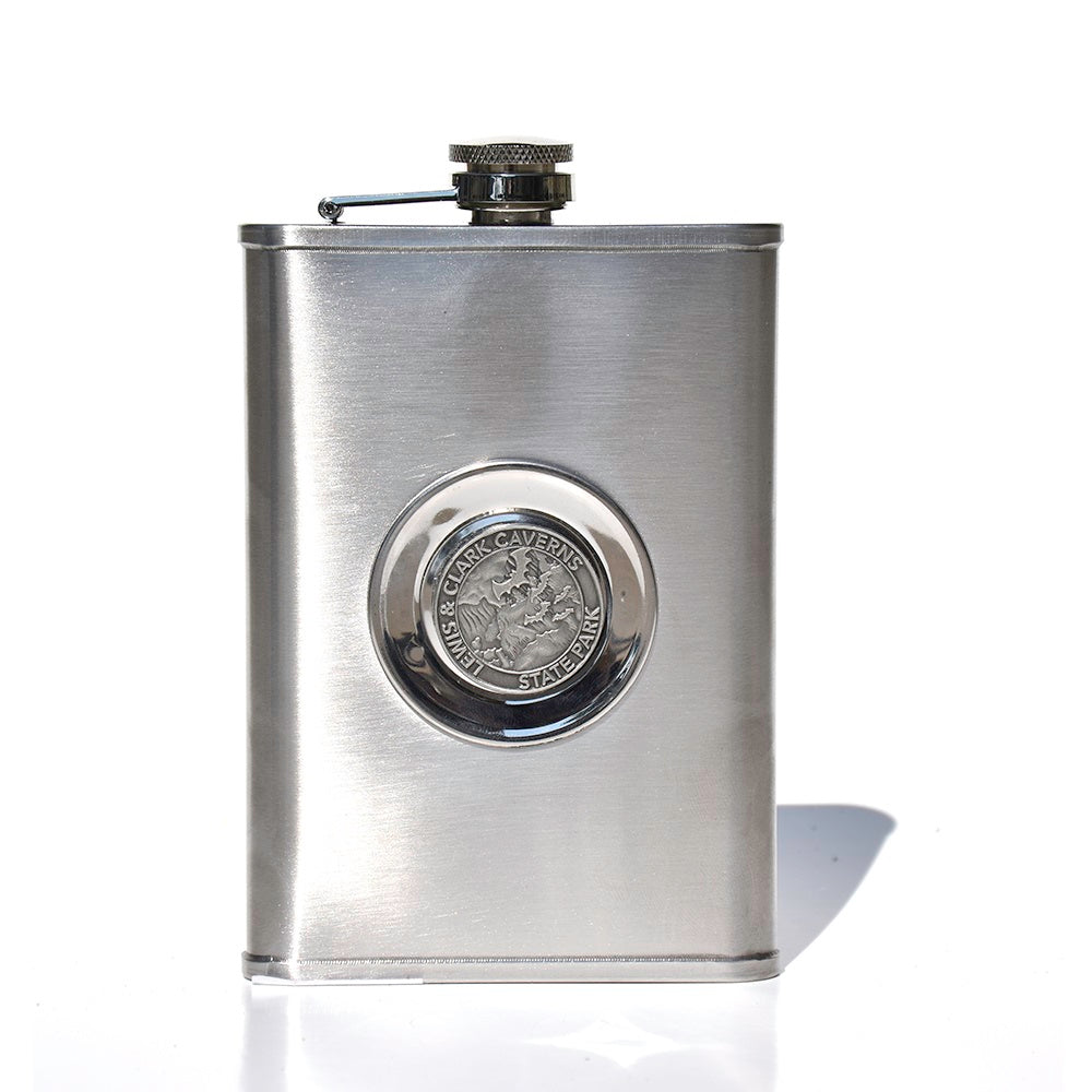 Lewis & Clark Caverns State Park Flask with Shot Glass by Dutch American Import Trading
