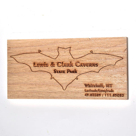 Lewis & Clark Caverns State Park Natural Wood Sign by Bridger Laser Designs at Montana Gift Corral