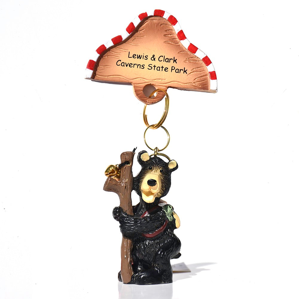 Lewis and Clark Caverns State Park Rush Hiking Bearskin Christmas Ornament from Mother Moose Enterprises