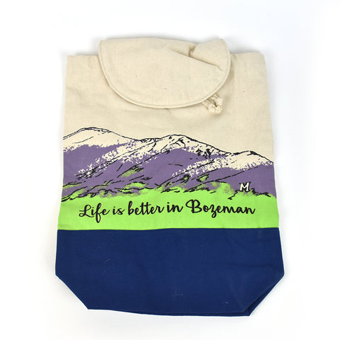 Life is Better in Bozeman Backpack by Art Studio Company at Montana Gift Corral