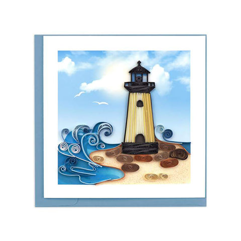 Lighthouse Greeting Card by Quilling Card
