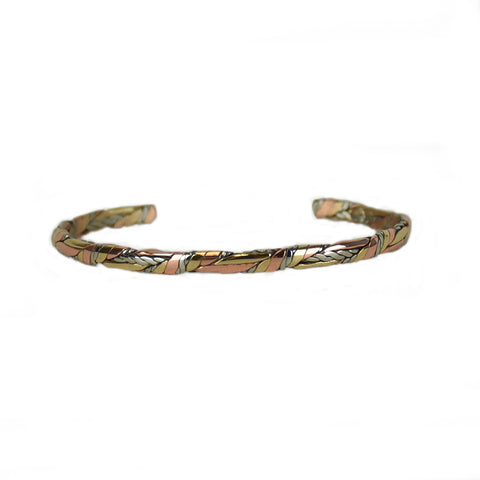 Little Sage Mixed Metal Bracelet by Sergio Lub Jewelry