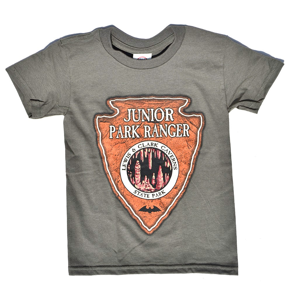 Lewis and Clark Caverns State Park Junior Park Ranger Youth T-Shirt from Prairie Mountain at Montana Gift Corral