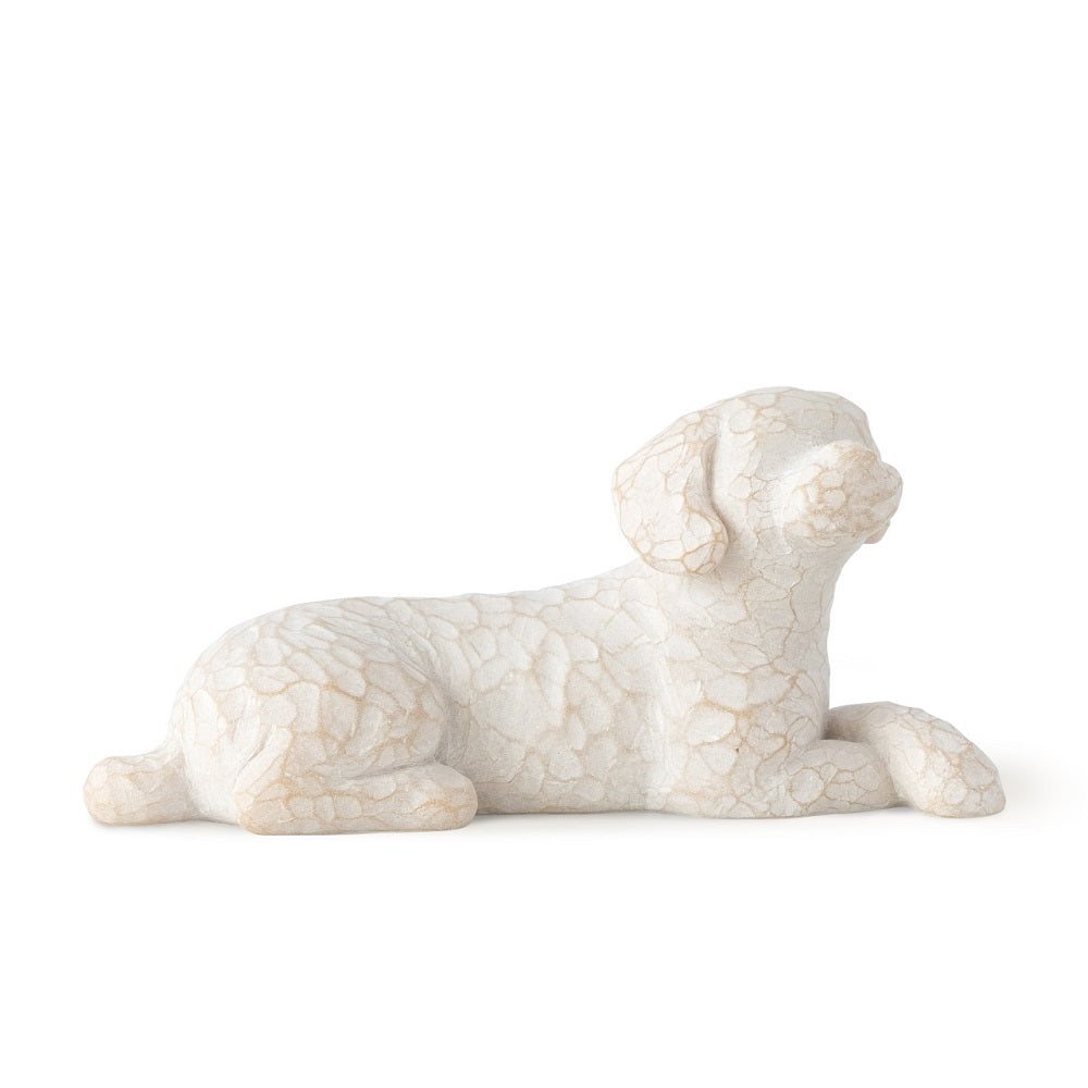 Lying Down Love My Dog Willow Tree Figurine by Susan Lordi from Demdaco at Montana Gift Corral