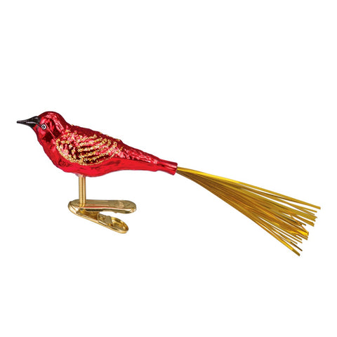Red Lovebird Christmas Clip-On Ornament by Old World Christmas at Montana Gift Corral