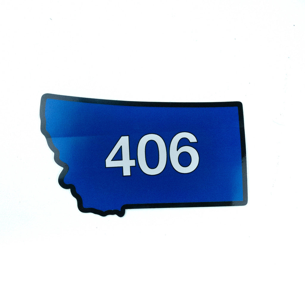 Montana 406 State Shape Sticker by TGT