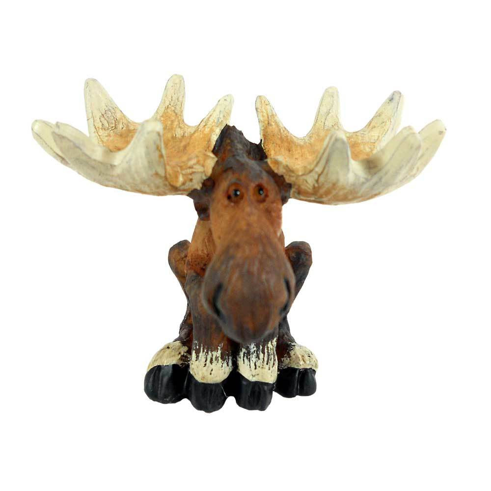 Sitting Moose Mini Figurine by Big Sky Carvers