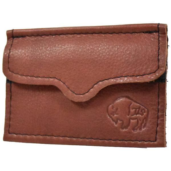 Mahogany Velcro Coin Purse by The Leather Store