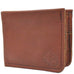 Mahogany 4 Pocket Bifold Buffalo Hide Wallet with Coin Pocket by The Leather Store