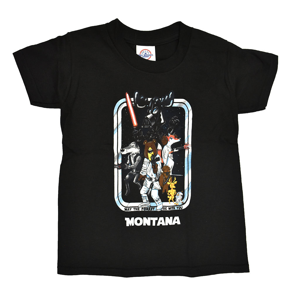 Black Star Forest Youth Montana T-Shirt from Prairie Mountain