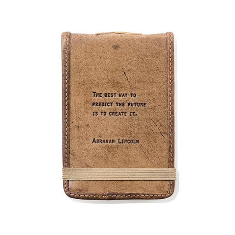 Mini Abraham Lincoln Leather Journal