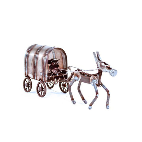 Gnome Be Gone Mini Chuck Wagon by Fred Conlon by Sugarpost at Montana Gift Corral