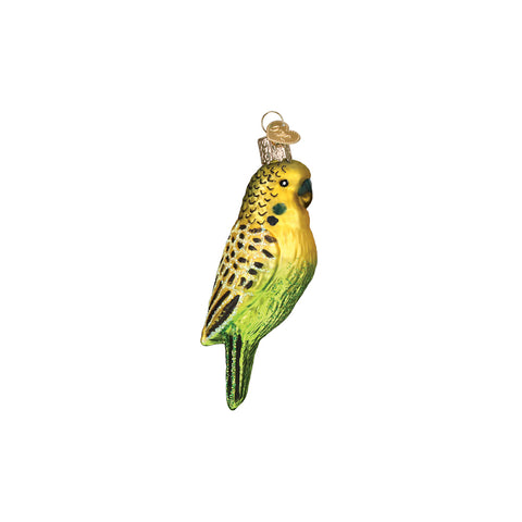 The Miniature Parakeet Christmas Ornament by Old World Christmas is a brightly colored friend that looks like he's perched upon your Christmas tree.