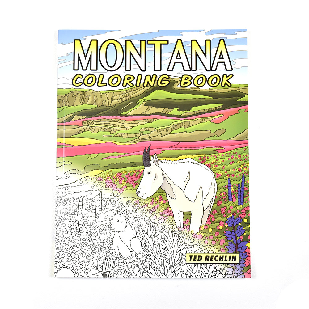 Montana Coloring Book by Ted Rechlin from Farcountry Press at Montana Gift Corral