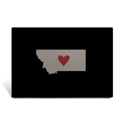 Show some Montana love with the Montana Heart Glass Cutting Board by Big Sky Carvers!