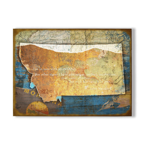 Montana John Steinbeck Sentimental Wall Art by Meissenburg Designs