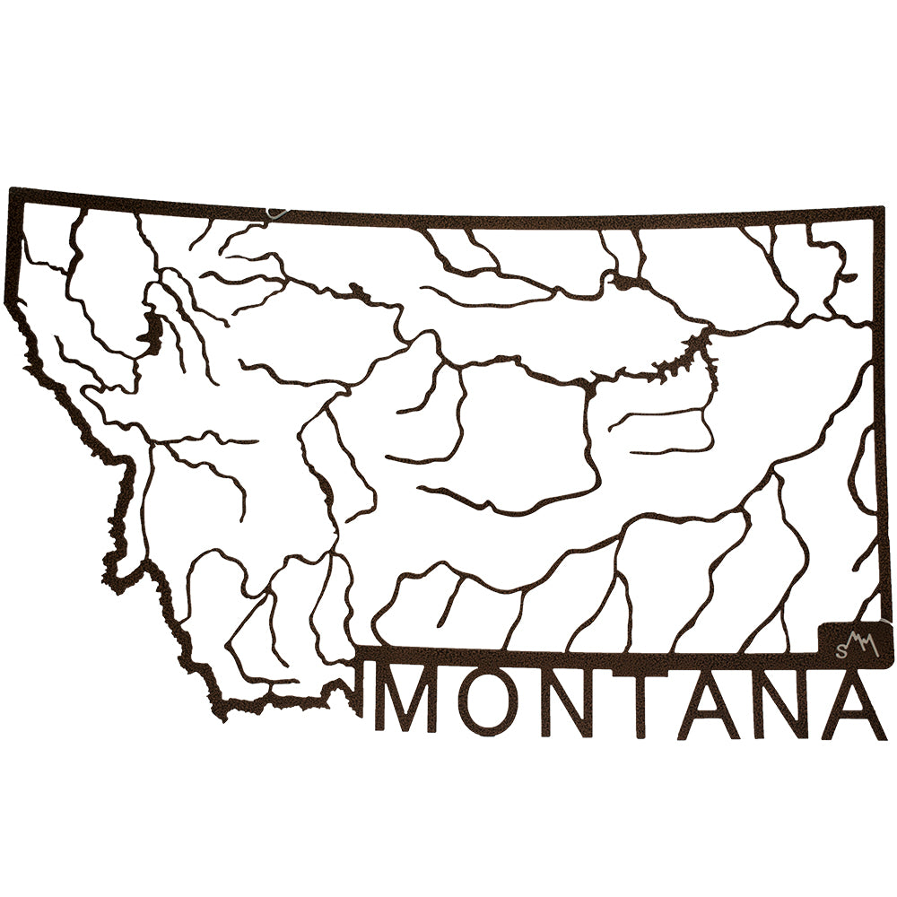 Montana Rivers Metal Wall Art by J Dub's Metalworks