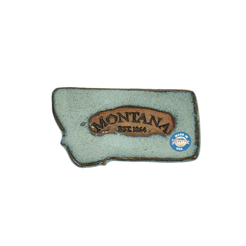 Montana State Magnet by Muds 'n Suds Pottery