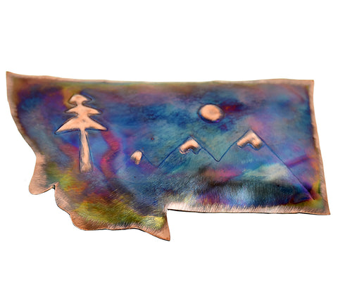 Montana and Mountains Copper Magnet by RoseWorksMT