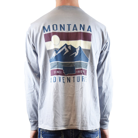 back Montana Adventure Accursed Screen Resort Tee Shirt by Lakeshirts at Montana Gift Corral