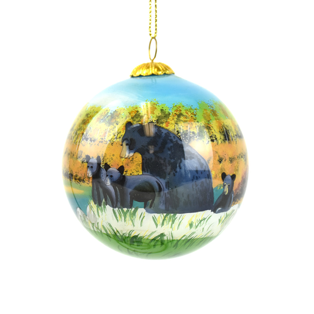 Montana Black Bear Family by the Lake Christmas Ornament by Art Studio Company at Montana Gift Corral